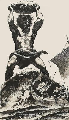 Циклоп. Иллюстрация Ангуса МакБрайда