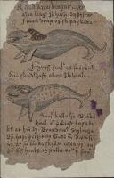"""Раудкембингур (сверху) и гроссвалур (внизу) из """"Естественной истории Исландии"""" Йона Гудмундссона (JS 401 XI b 4to), 1590-1634"""