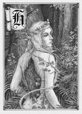 Хульдра. Иллюстрация Юлии Широниной (CoalRye)