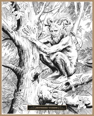 Зелёный человек. Иллюстрация Клаудио Санчеса Вивероса