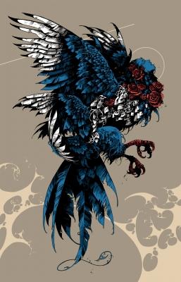 Сирин, птица печали. Иллюстрация Ивана Беликова