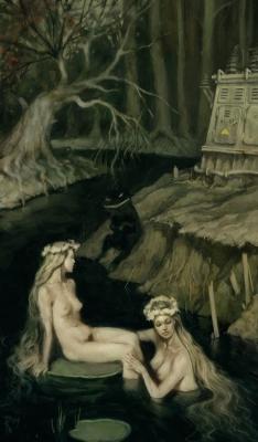Темные воды. Иллюстрация Вальдемара Казака