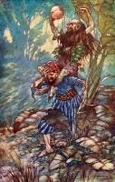 """Давалпа. Иллюстрация Чарльза Фолкарда к арабским сказкам про Синдбада-морехода из """"1001 ночи"""" (1917)"""