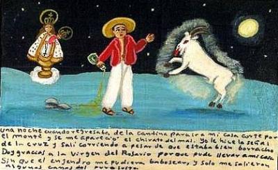 Ретабло Пресвятой Деве Розарии за избавление от дьявольского козла