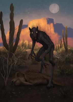 Чупакабра. Иллюстрация Диего де ла Роса