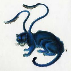 Displacer — зверь, путающий следы. Иллюстрация Тони Ди Терлицци