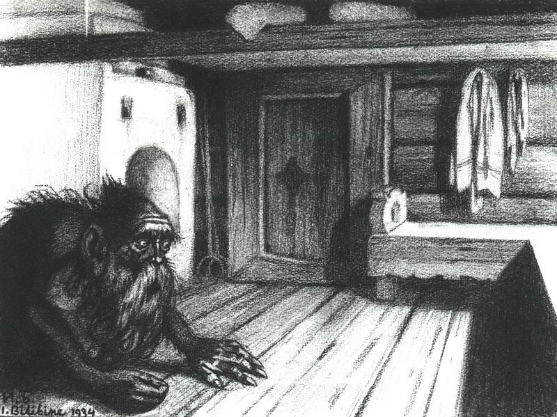 Домовой. Рисунок Ивана Билибина