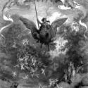 Рыцарь на гиппогрифе (оригинальный фронтиспис). Иллюстрация Г.Доре