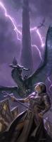 Черный дракон на иллюстрации Тодда Локвуда