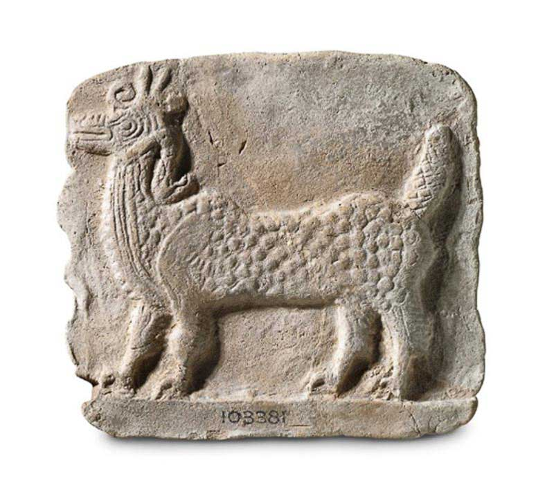 Вавилонский дракон Мушхуш-Сирруш. Терракотовая дощечка