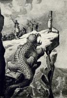 """Иллюстрация И.Никонова к рейнскому сказанию """"Драконов утес"""" (1905)"""