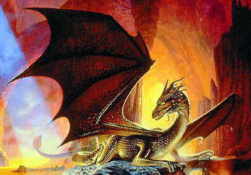 """""""Драконья пещера"""". Фрагмент картины Кита Паркинсона"""