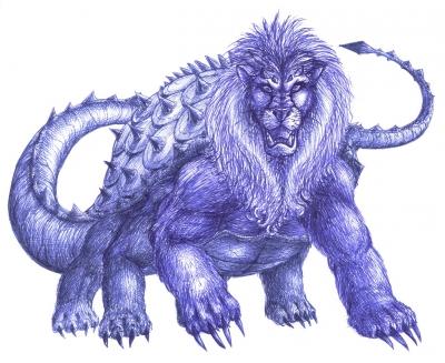 Дракон Тараск. Рисунок Karin J.B.