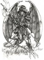 Драконид. Рисунок Мэтью Гудмэнсона