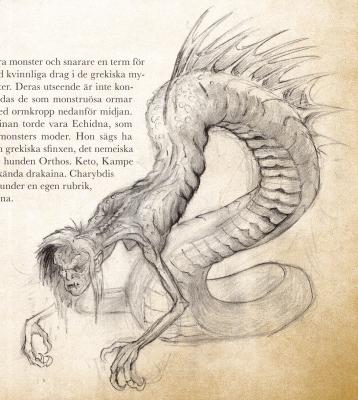 Дракайна. Иллюстрация Кристофера Густафссона
