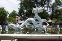 Статуя дракона (фонтан) в Хошимине (бывший Сайгон)