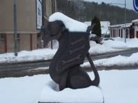 """Дракон. Один из скульптурной композиции у трутновского завода """"Пежо"""""""