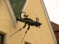 Дракон-водосток в Каменец-Подольском