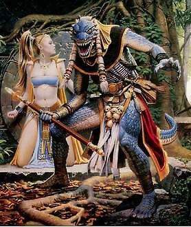 "Драконид на картине Кита Паркинсона ""Everquest The Ruins of Kunark"""