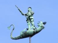Св. Георгий и дракон — флюгер на здании Двора Братства Св. Георгия в Гданьске