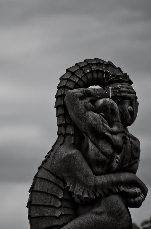 Статуя драконоборца в Осло