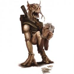 Даг, играющий в сабакк — популярную карточную игру. Иллюстрация Уильяма О'Коннора