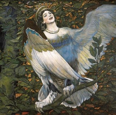 Алконост. Фрагмент картины В.М.Васнецова, 1896