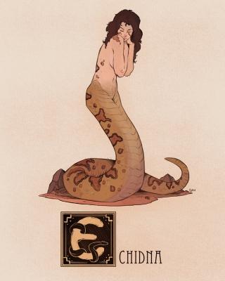 "Ехидна. Иллюстрация Натана Андерсона (Nathan J. Anderson, ""Deimos-Remus"")"