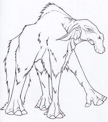 """Хугаг. Иллюстрация Фионы Эванс для книги """"Compendium of North American Cryptids & Magical Creatures"""""""