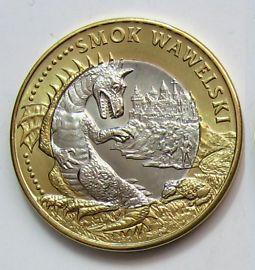 Вавельский цмок (дракон) на сувенирной польской монете