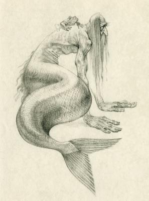 Водяной. Иллюстрация Романа Писарева
