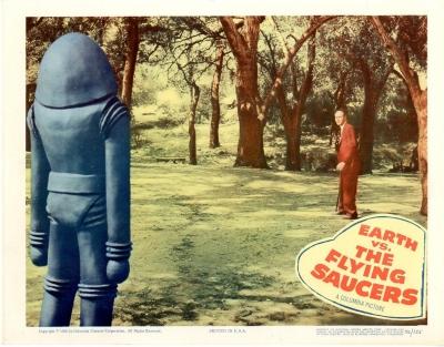 """Лобби-карточка к фильму """"Земля против летающих тарелок"""" (Earth vs. Flying Saucers, 1956)"""