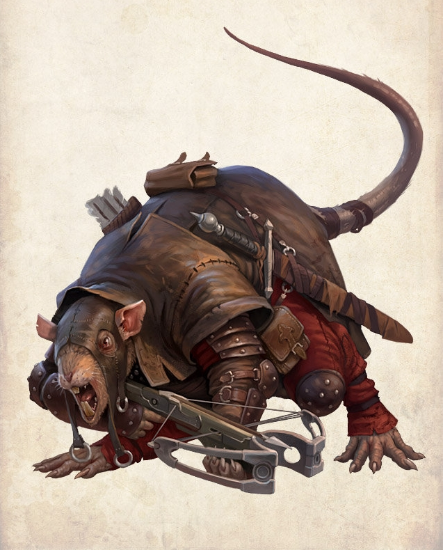 Крысолюд. Иллюстрация Дмитрия Бурмака