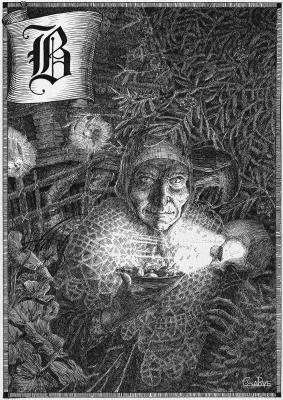Баба Яга. Иллюстрация Юлии Широниной (CoalRye)