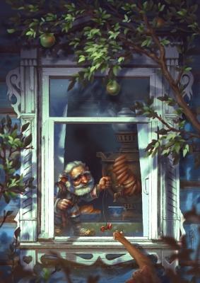 Домовой. Иллюстрация Егора Гафидова