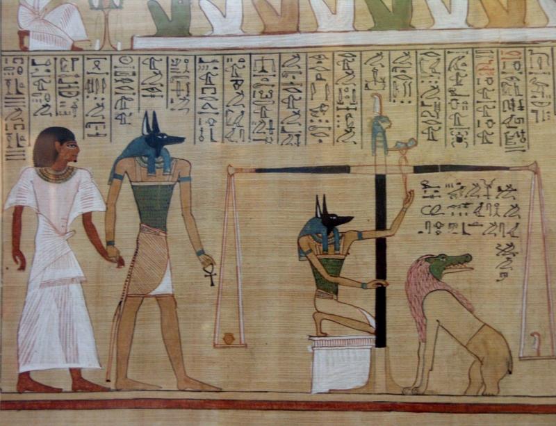 Сцены загробного суда в египетской мифологии. Папирус Хунефера