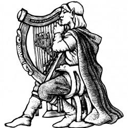 Эльфийский арфист. Иллюстрация Мерли Инсинга