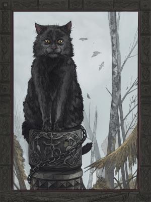 Кот Баюн. Иллюстрация Эмиля Султанова