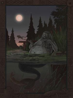 Водяной. Иллюстрация Эмиля Султанова