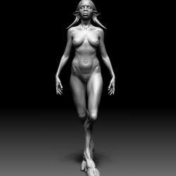 Сатиресса-эмпуса. 3D-модель