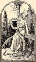 """Иллюстрация Г.Форда к сказке Дж.Б.Базиле """"Змей"""" из """"Зеленой книги сказок"""" Эндрю Лэнга (1892)"""