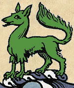 Энфийлд в навершии герба рода Келли