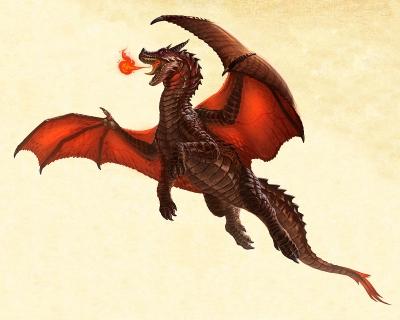 Европейский дракон. Иллюстрация Карлоса Эулефи