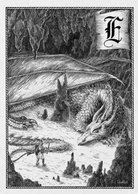 Европейский дракон. Иллюстрация Юлии Широниной (CoalRye)