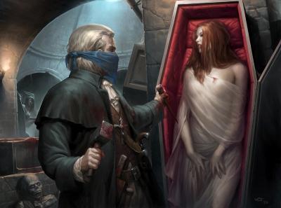 Европейский охотник на вампиров. Иллюстрация Даррена Тана