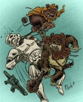 Эвоки. Иллюстрация Брэда МакГинти
