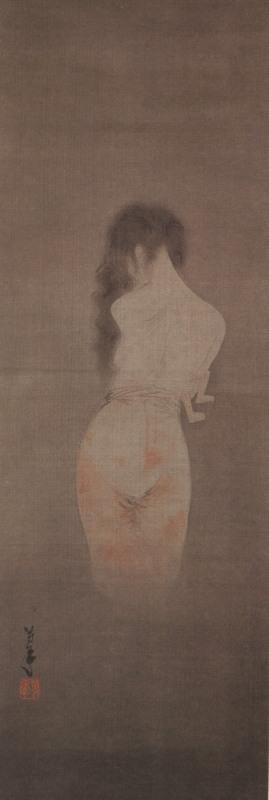 Призрак убумэ. Традиционный японский рисунок