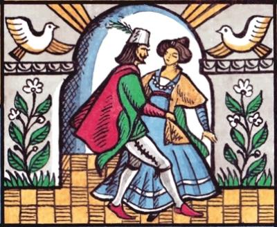 Феничка. Иллюстрация Георгия Клодта к одноименной албанской сказке