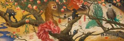 """Китайский постер фильма """"Фантастические твари: Преступления Грин-де-Вальда"""" от художника Чжан Чуня"""