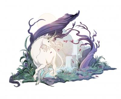 Единорог. Иллюстрация Александрии Хантингтон